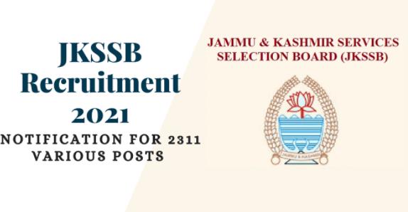 JKSSB Recruitment 2021 Jobs